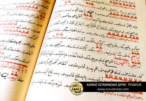 Kur'ân ve Kâinat kitabındaki şifre:Tevâfuk