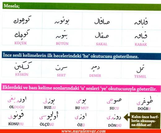 Osmanlıca Bazı Kurallar İmajı