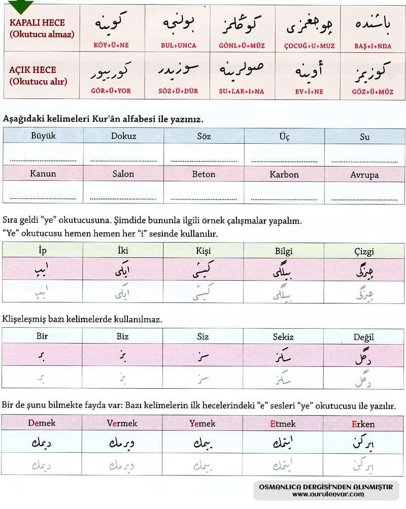 Osmanlıca Öğreniyorum 3