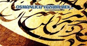 Osmanlıca yazabiliyorum!