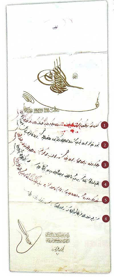 Sultan Mehmed Reşad Han Osmanlıca Beratı